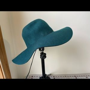 I. Crew green floppy wool hat